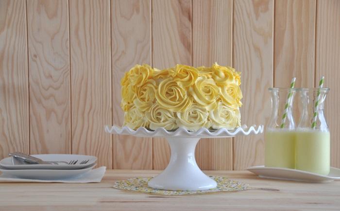como decorar un pastel con lemmon curd