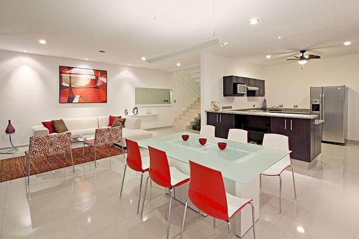 como decorar un salón comedor minimalista