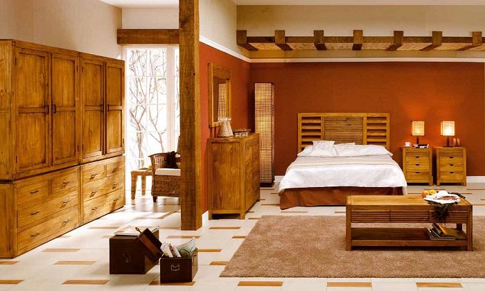 como decorar una habitación matrimonial de estilo rustico