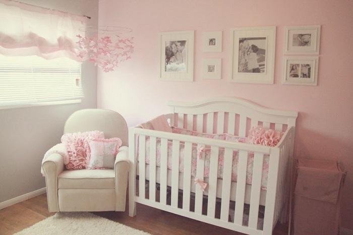 como decorar una habitación para bebe estilo romántico