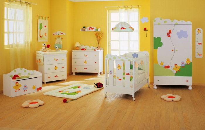 como decorar una habitación para bebe estilo alegre