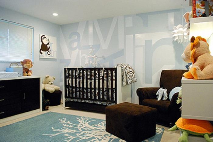 como decorar una habitación para bebe estilo moderno