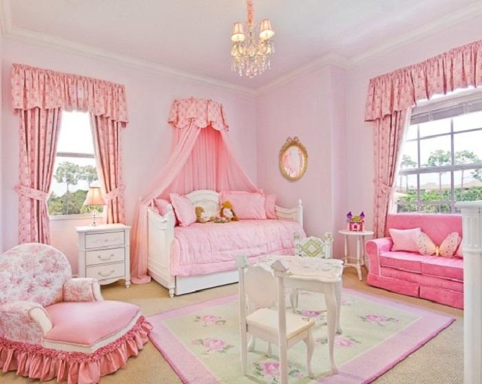 como pintar la habitación infantil colo rosa