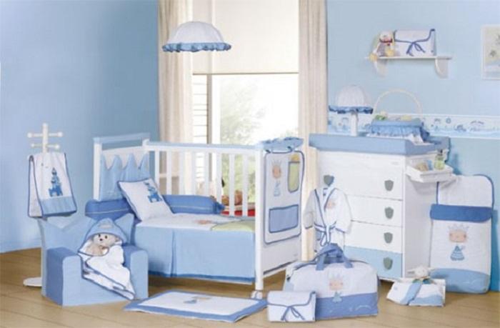 como pintar la habitación infantil de color azul
