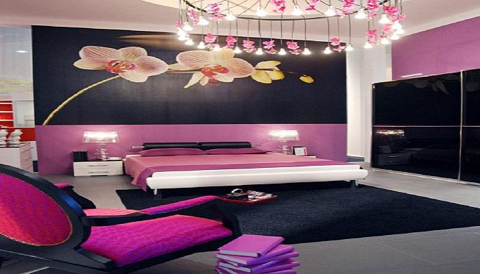 como pintar una habitación de matrimonio de color violeta