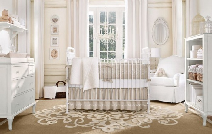 como decorar una habitación para bebe estilo clasico