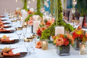 decoración de mesas para bodas estilo rustico