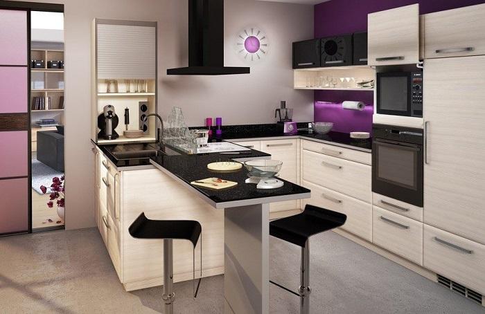 ideas de decoración de cocinas modernas pequeñas con isla