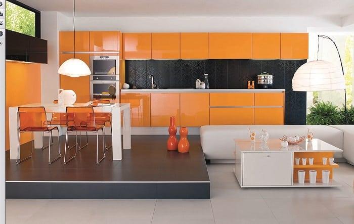 ideas de decoración de cocinas modernas pequeñas independientes