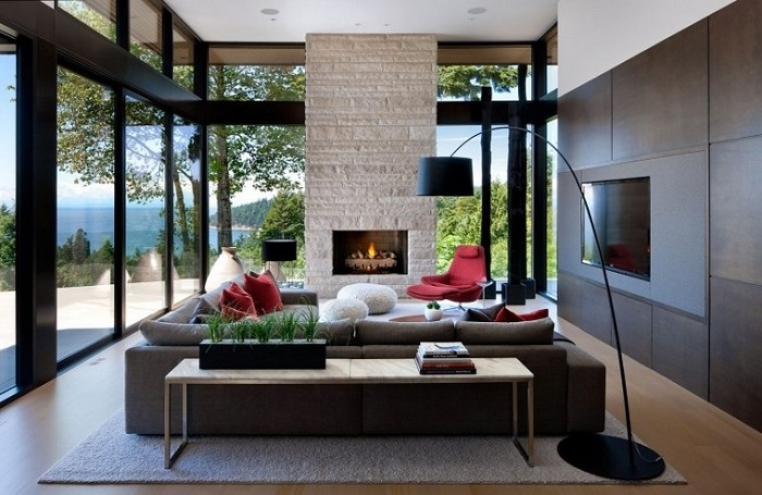 ideas de decoración para salones con chimenea