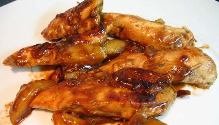 pechugas de pollo en salsa agridulce