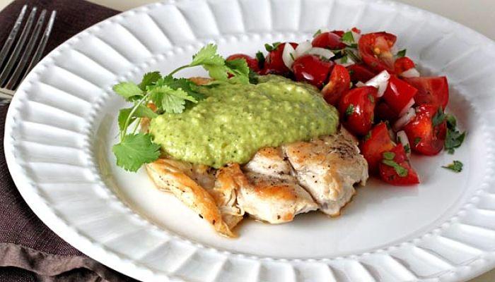 pechugas de pollo en salsa verde