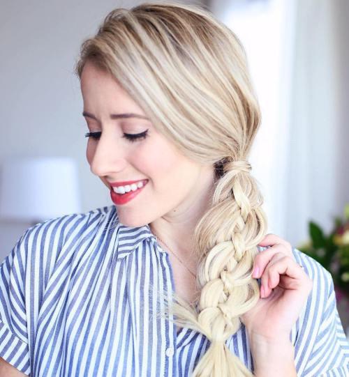 peinados con trenzas fáciles planas