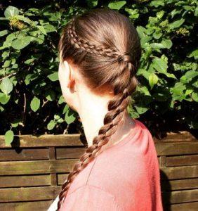 peinados con trenzas fáciles de trenza baja