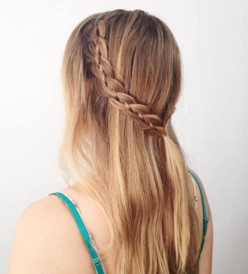 20 Peinados Con Trenzas Faciles De Hacer Tutoriales Paso A Paso - Peinado-trenza-facil