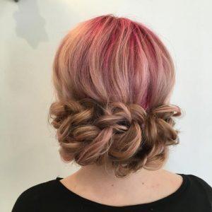 peinados con trenzas fáciles de updo