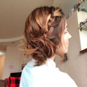 peinados con trenzas fáciles messy buns