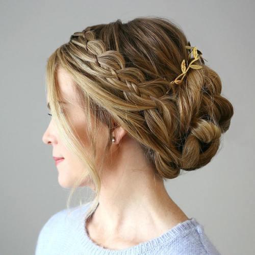 peinados con trenzas fáciles estilo updo