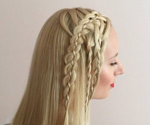peinados con trenzas fáciles de cinta larga