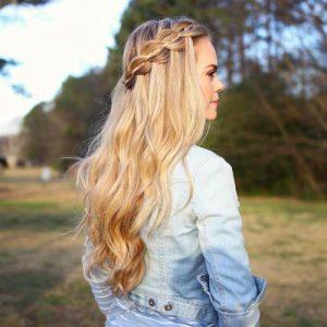 peinados con trenzas fáciles en cascada