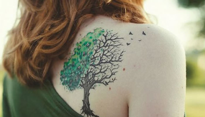 tatuajes en la espalda árbol de la vida