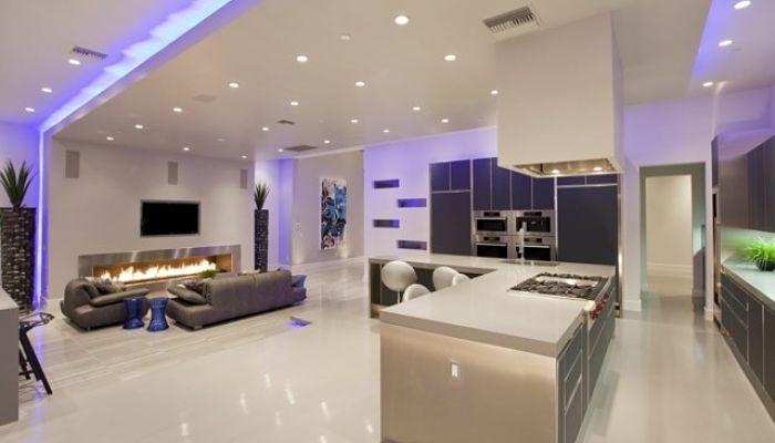 iluminación led casas modernas