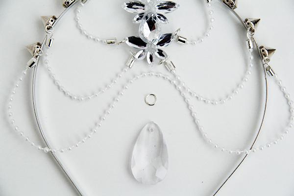 accesorios para el cabello con gemas de fantasía