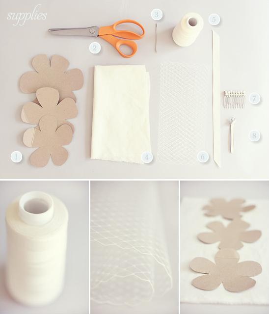 accesorios para el cabello de boda con flores