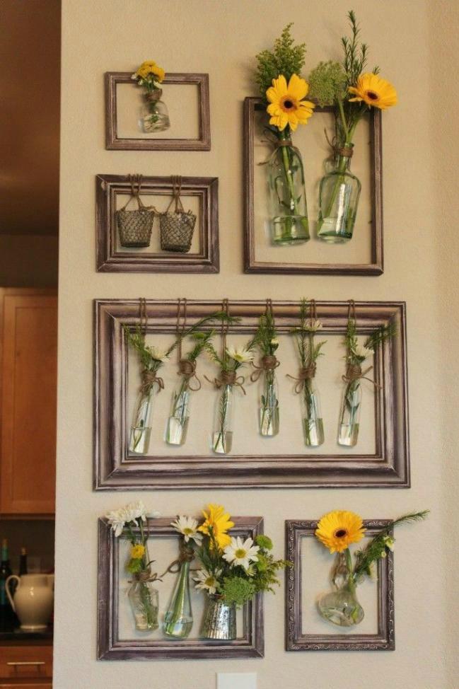 decorar la casa reciclando marcos de fotos