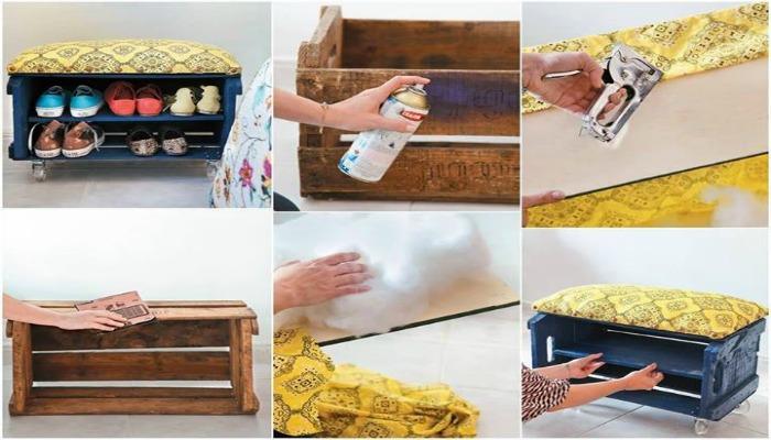 decorar mi casa reciclando cajas de frutas de madera