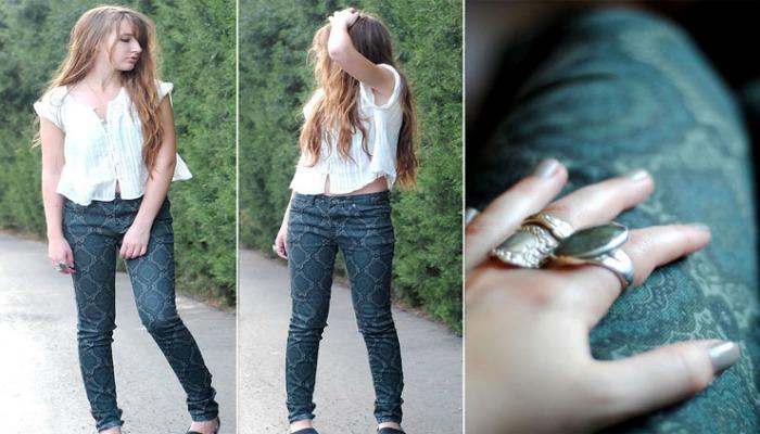 cómo decorar jeans estampándolos