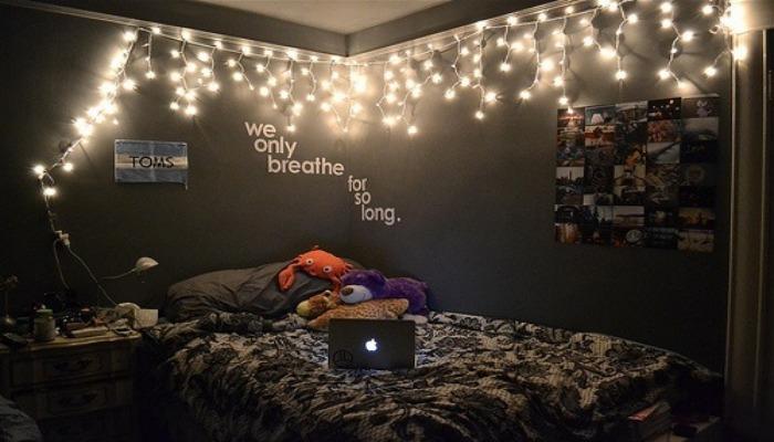 formas de decorar mi habitación con luces