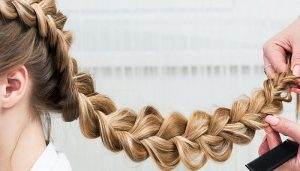 trenzas por todo el pelo