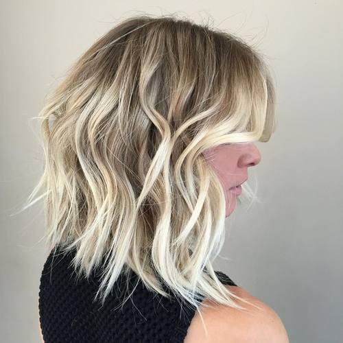 cortes de cabello bob básico ondulado