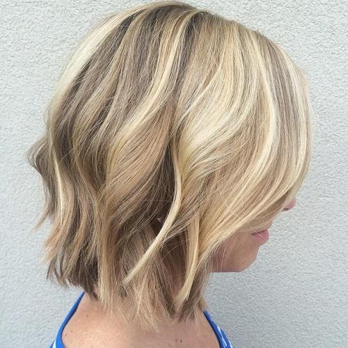cortes de cabello bob recto ondulado