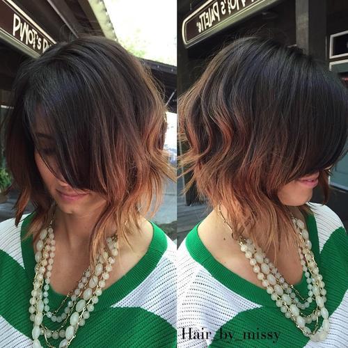 cortes de cabello bob desordenado