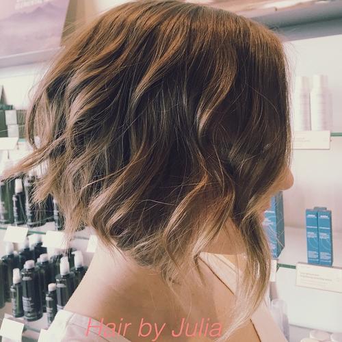 cortes de cabello bob estilizado con ondas