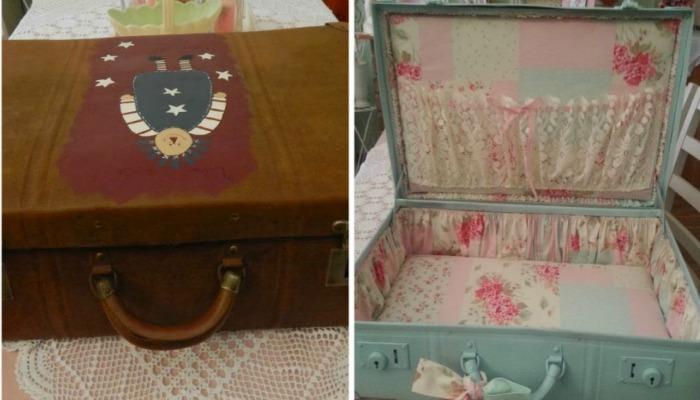 maletines con decoración shabby chic
