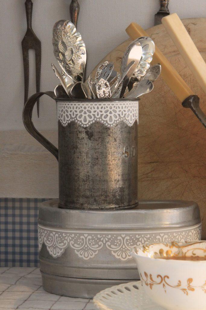 decoración shabby chic para la cocina