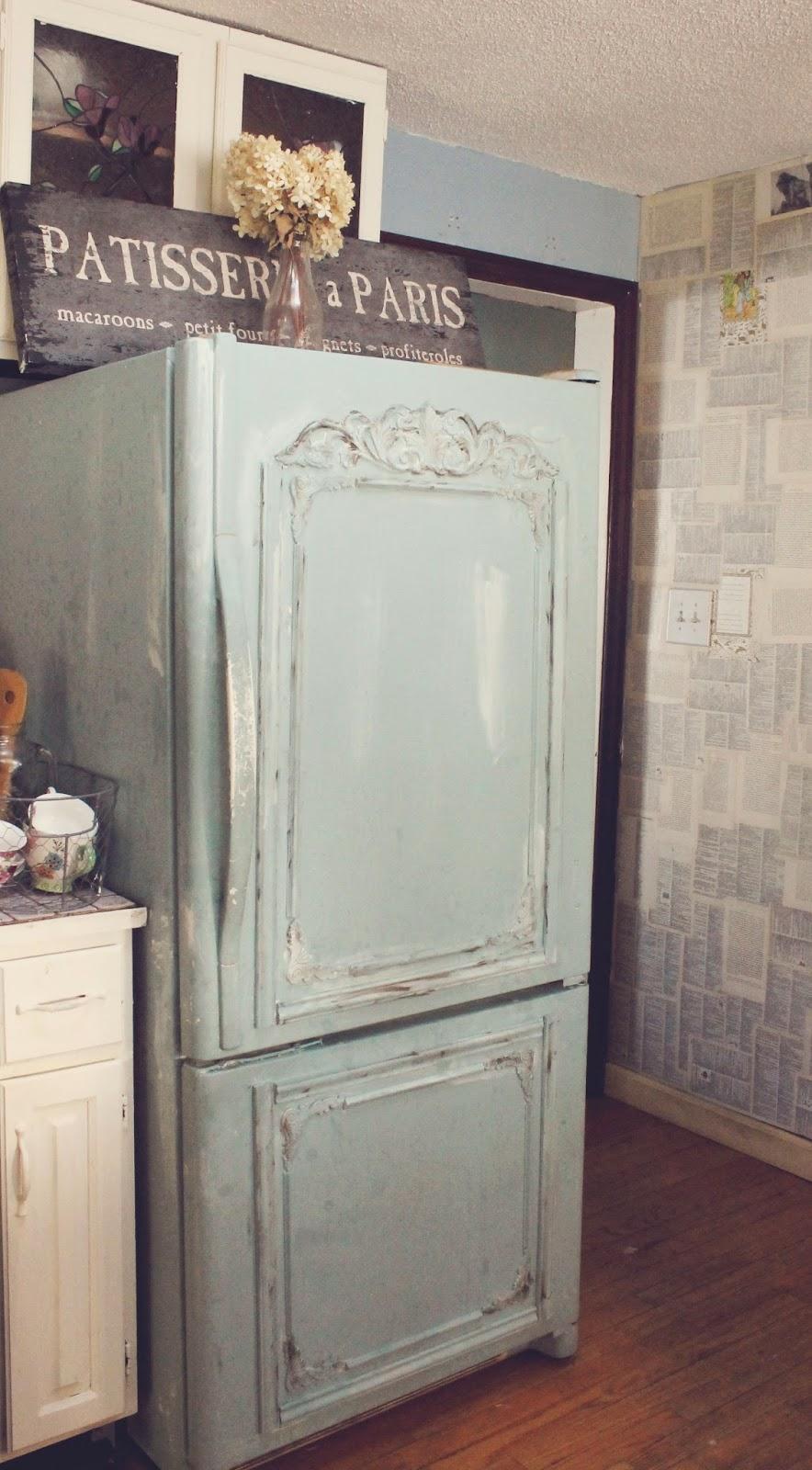 decoración shabby chic en refrigeradores
