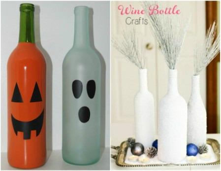 decorar botellas de vino