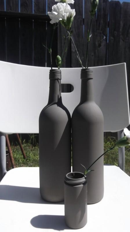 decorar botellas de vino con pintura para tiza
