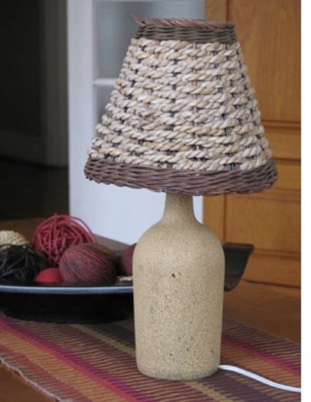 decorar botellas de vino como lámpara