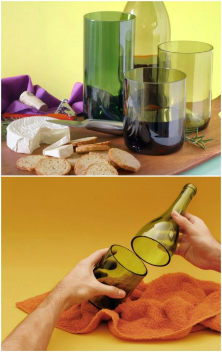 decorar botellas de vino para hacer vasos