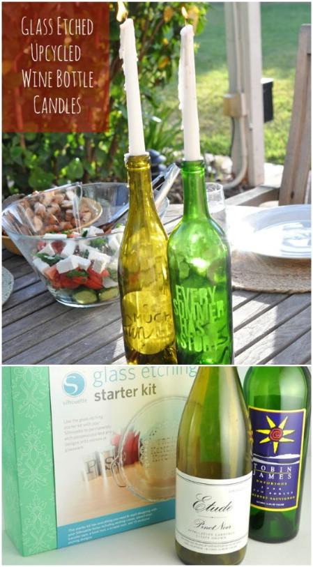 decorar botellas de vino con grabados