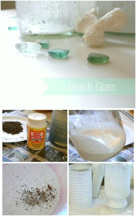 decorar botellas de vino con estilo de playa