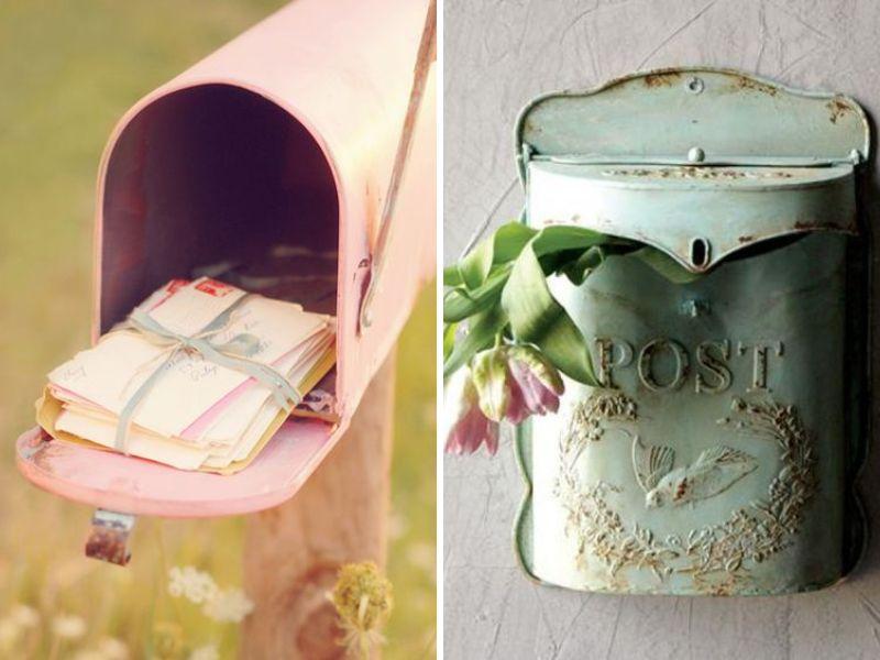 decorar tu boda vintage con buzones viejos