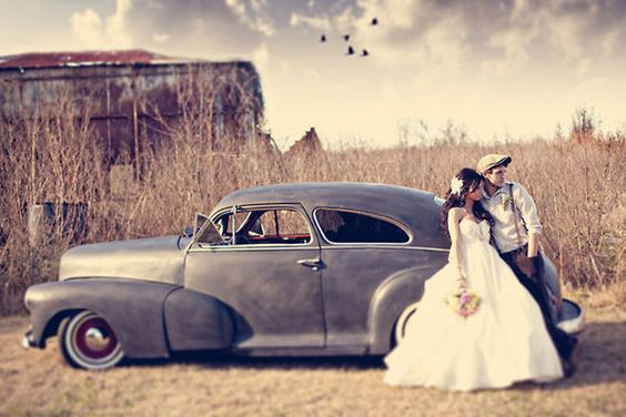 autos para decorar tu boda vintage