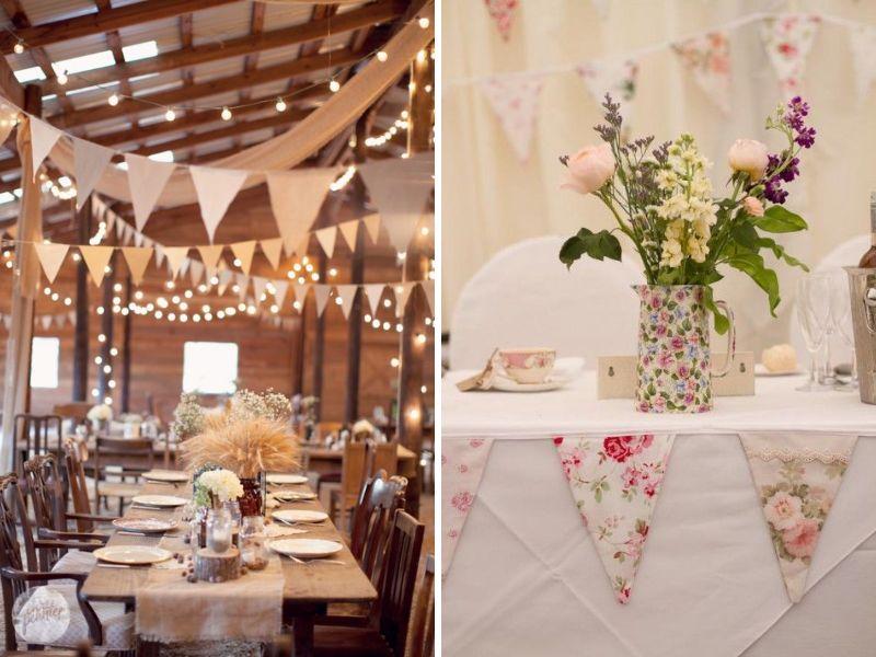 decorar tu boda vintage con guirnaldas