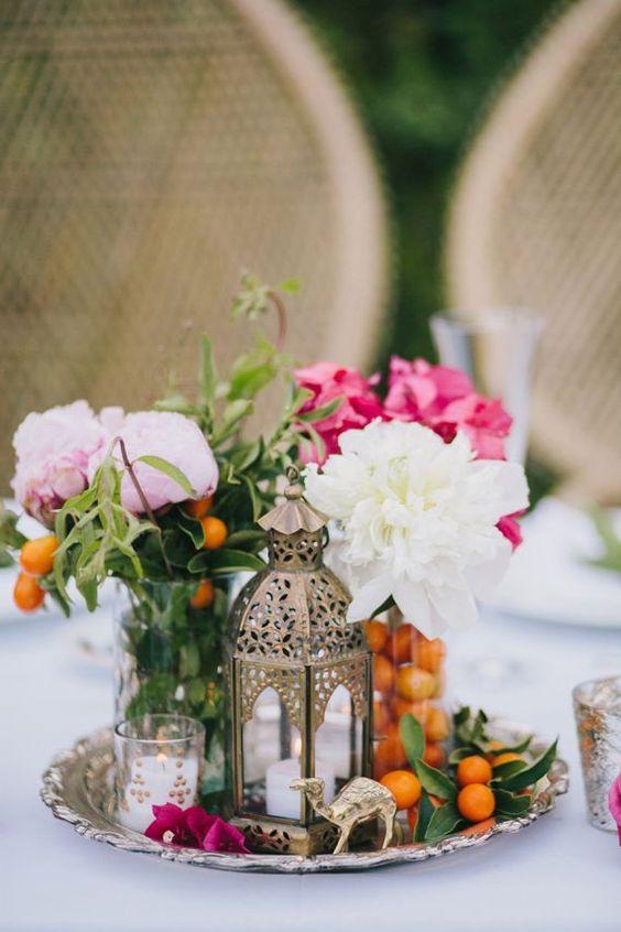 centros de mesa vintage para decorar tu boda